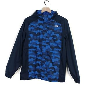 The North Face Blue Camo Dryvent Mesh Zip Jacket